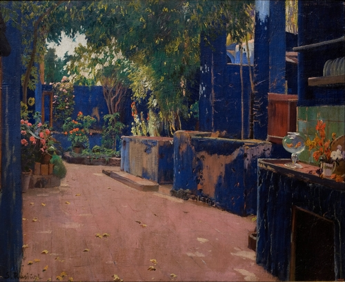 Santiago Rusinol - Blue Courtyard