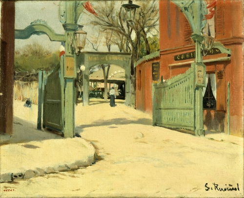 Santiago Rusinol - Entrance to Moulin de la Galette
