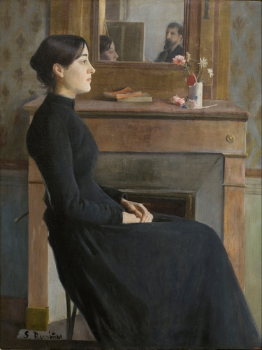Santiago Rusinol - Female figure