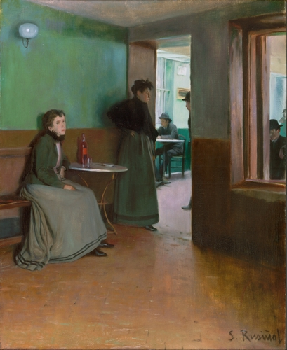 Santiago Rusinol - Interior of a cafe in Spain