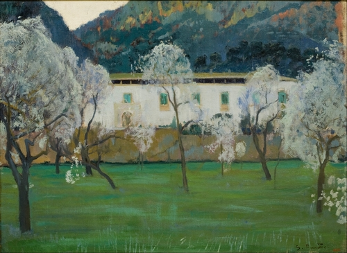 Santiago Rusinol - White Farmhouse in Majorca