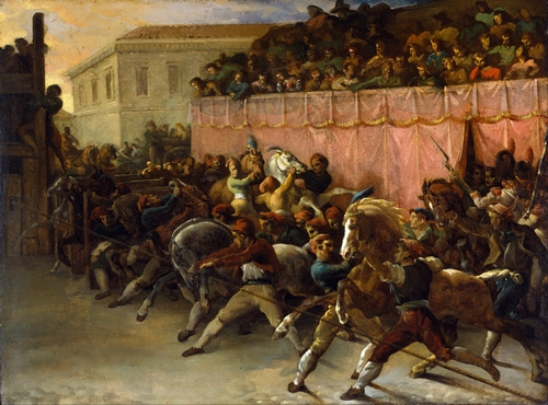 Theodore Gericault - Riderless racers at Rome