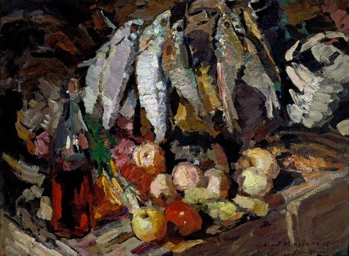 Konstantin Korovin - Fishes, wine, fruit
