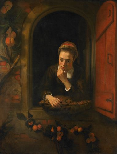 Nicolaes Maes - Girl at a Window, known as The Daydreamer