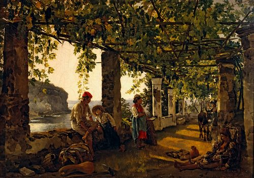 Silvestr Shchedrin - A veranda overgrown with grape vines
