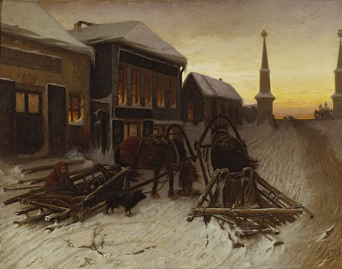 Vasily Perov - The Last Tavern at the City Gates
