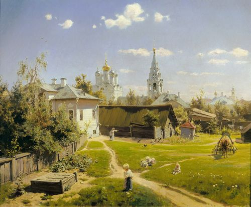 Vasily Polenov - Moscow patio