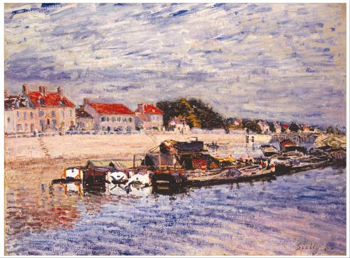 Sisley - Barges on the Loing