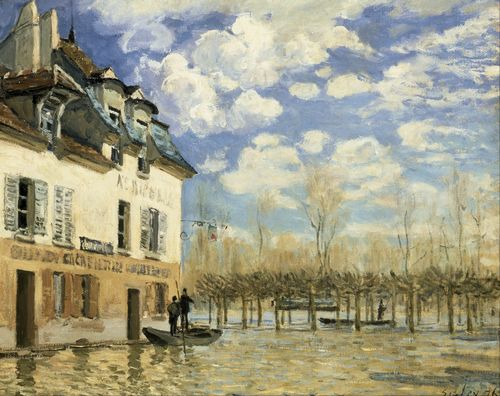 Sisley - Boat in the Flood at Port Marly