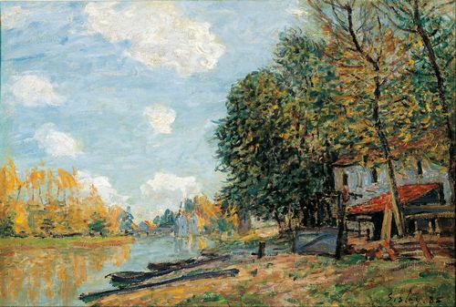 Sisley - Moret on the Banks of the River Loing