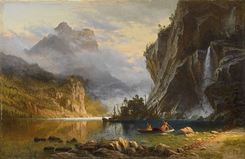 Bierstadt - Indians Spear fishing