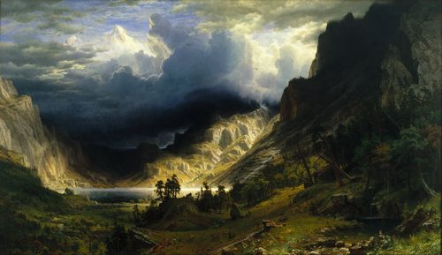 Bierstadt - Storm in the Rocky Mountains
