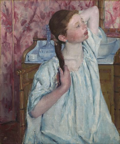 Cassatt - Girl arranging her hair