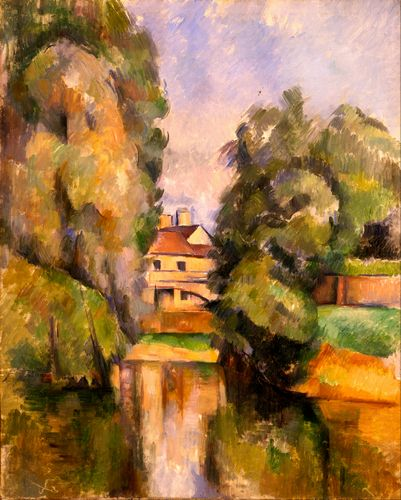 Cezanne - Country House by a River