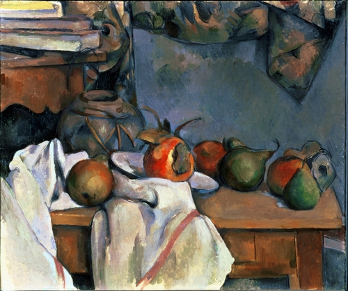 Cezanne - Ginger pot with Pomegranite and Pears