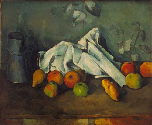 Cezanne - Milk Can and Apples