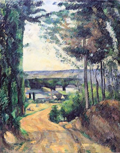 Cezanne - Road leading to the lake