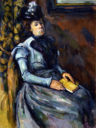 Cezanne - Seated woman in blue
