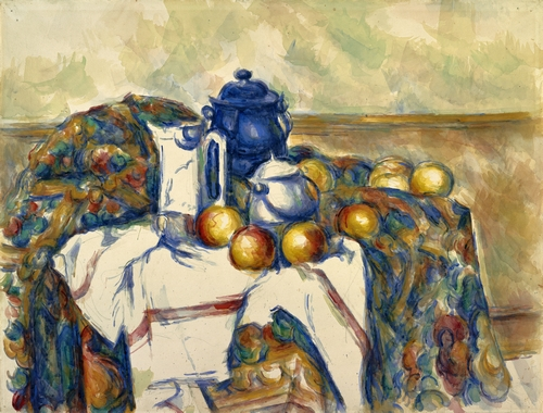 Cezanne - Still life with blue pot