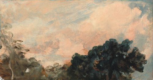 Constable - A Cloud Study with trees
