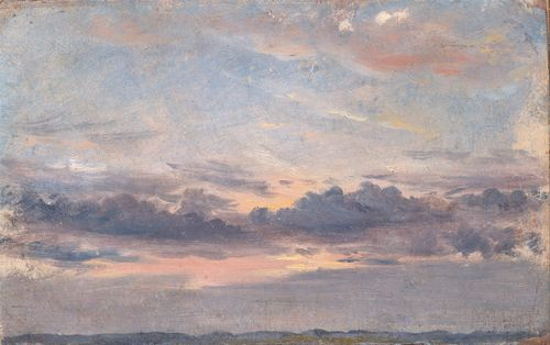Constable - A Cloud Study, Sunset