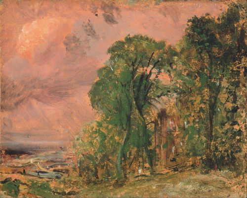 Constable - A View at Hampstead with Stormy Weather