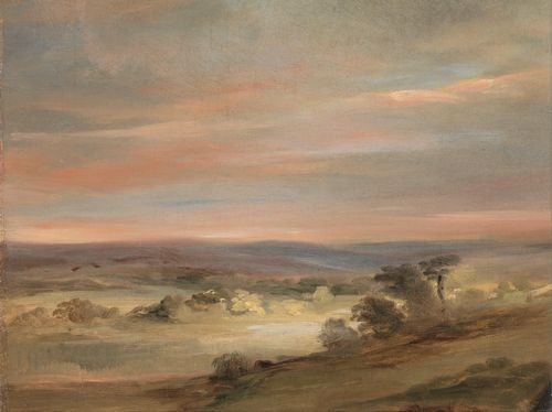 Constable - A View on Hampstead Heath, Early Morning