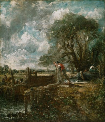 Constable - A boat passing a lock