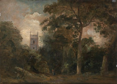 Constable - A church in the trees