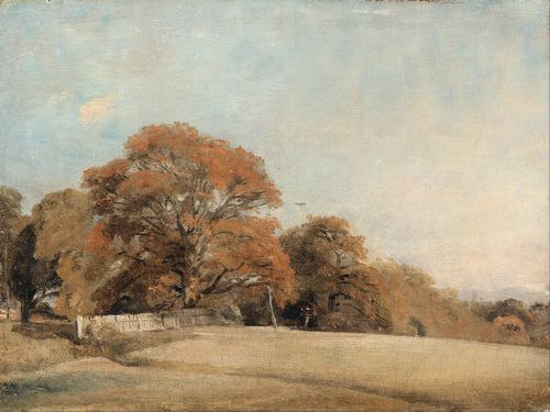 Constable - An Autumnal Landscape at East Bergholt