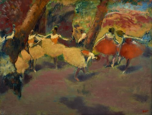 Degas - Before the performance