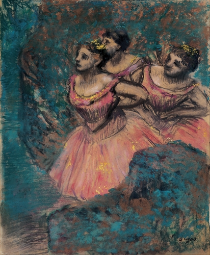 Degas - Three dancers in red costumes