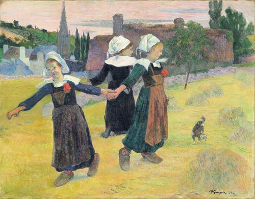 Gauguin - Breton Girls Dancing