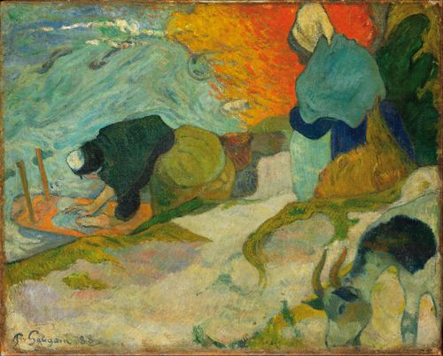Gauguin - Washerwomen in Arles