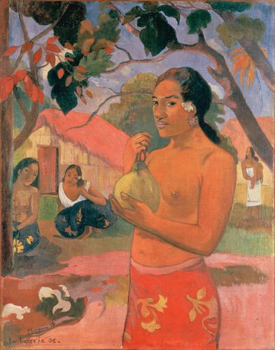 Gauguin - Woman Holding a Fruit