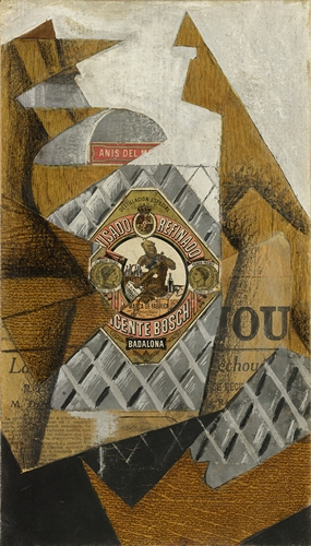 Juan Gris - The Bottle of Anjos del Mono