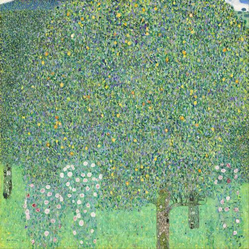 Klimt - Rose bushes under the Trees