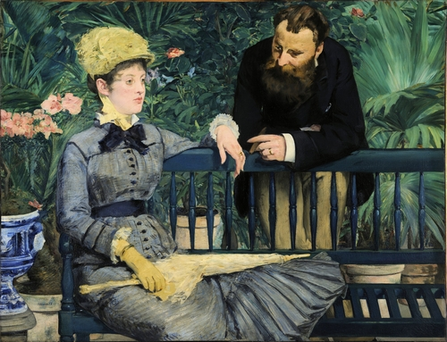 Manet - In the conservatory
