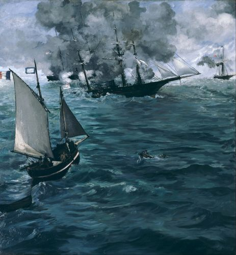 Manet - The Battle of the Kearsarge and the Alabama