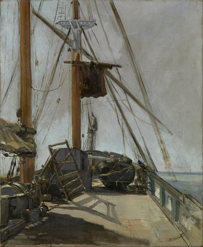 Manet - The ship deck