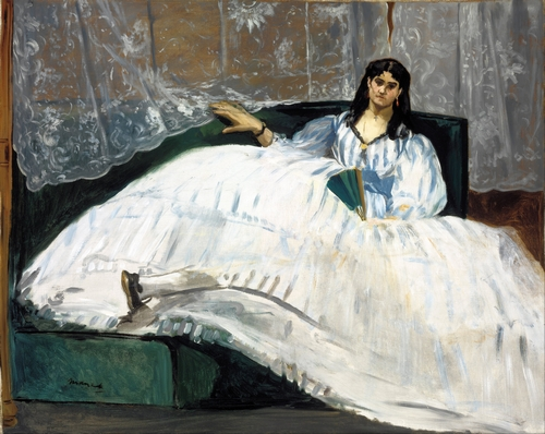 Manet - Woman with a fan