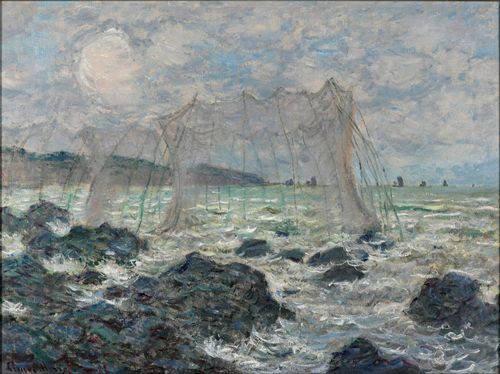 Monet - Fishing nets at Pourville