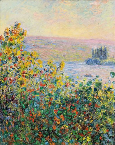 Monet - Flower Beds at Vetheuil