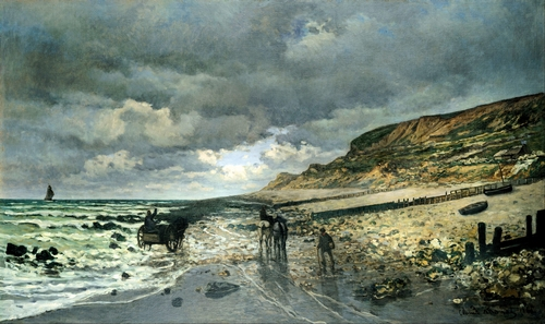 Monet - La Pointe del Heve at low tide