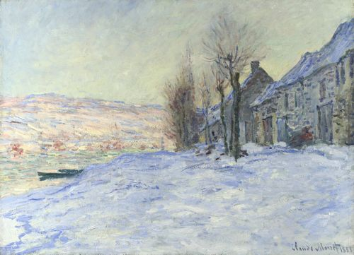 Monet - Lavacourt with Sunshine and Snow