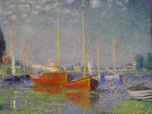 Monet - Red boats at Argenteuil