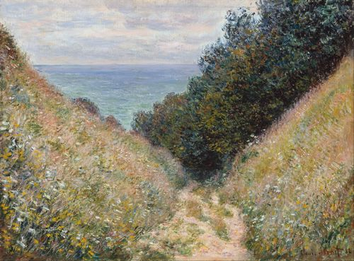 Monet - Road at La Cavee, Pourville