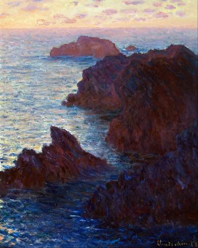Monet - Rocks at Belle-lle, Port-Domois