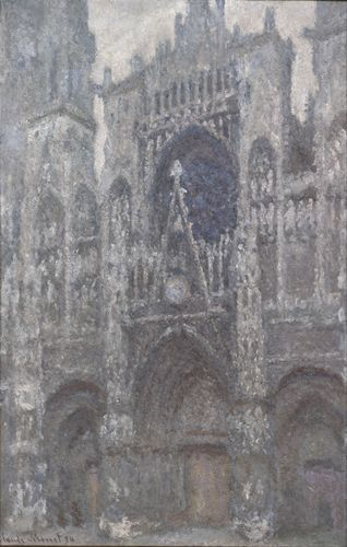 Monet - Rouen Cathedral , Grey weather