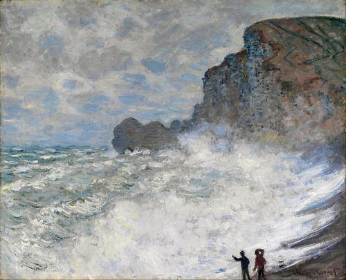 Monet - Rough weather at Etretat